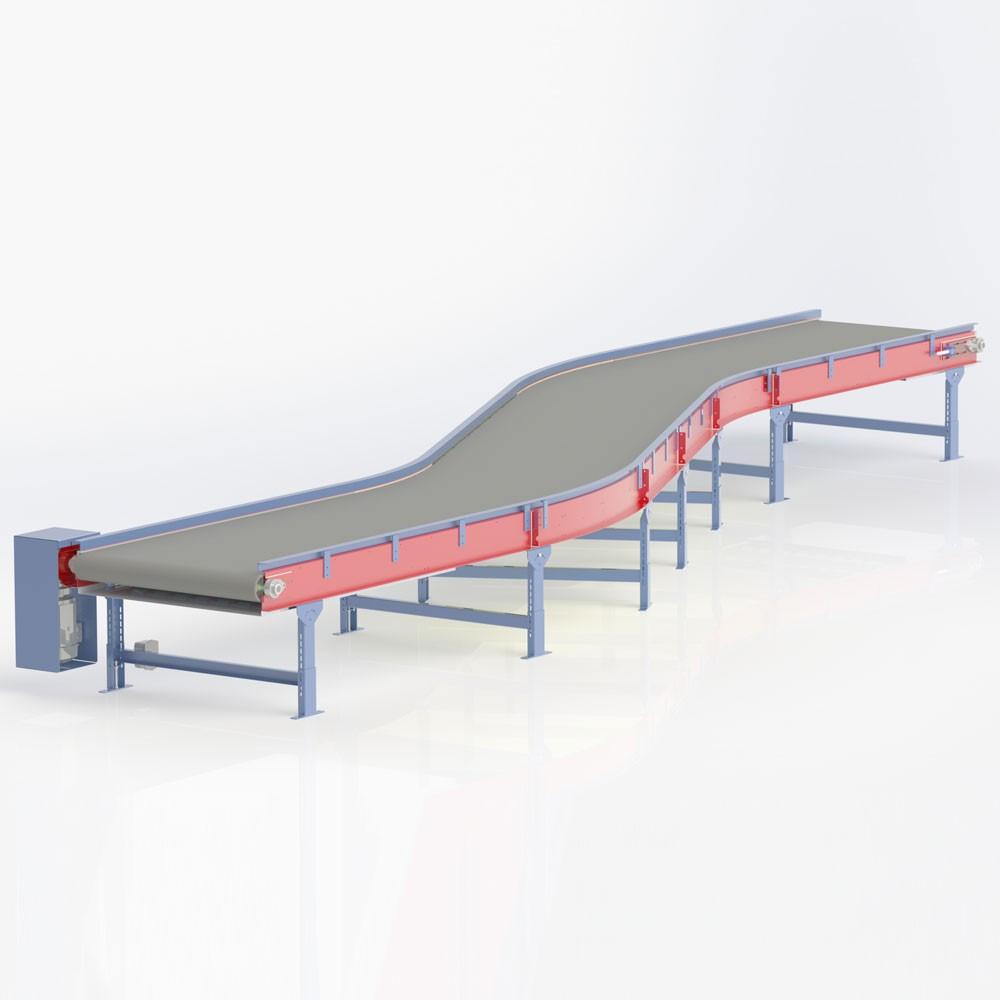 S-Bend Plastic Modular Belt Conveyor